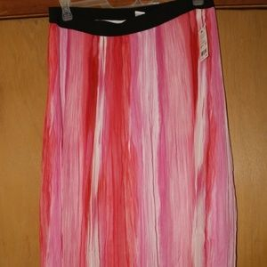 NY Collection Crinkle Pleated Maxi Skirt
